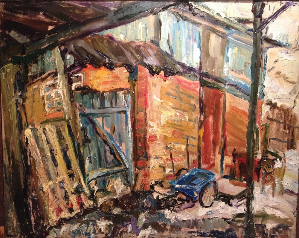 Ольга, Барбоскин двор,2015,холст, масло, 90х80