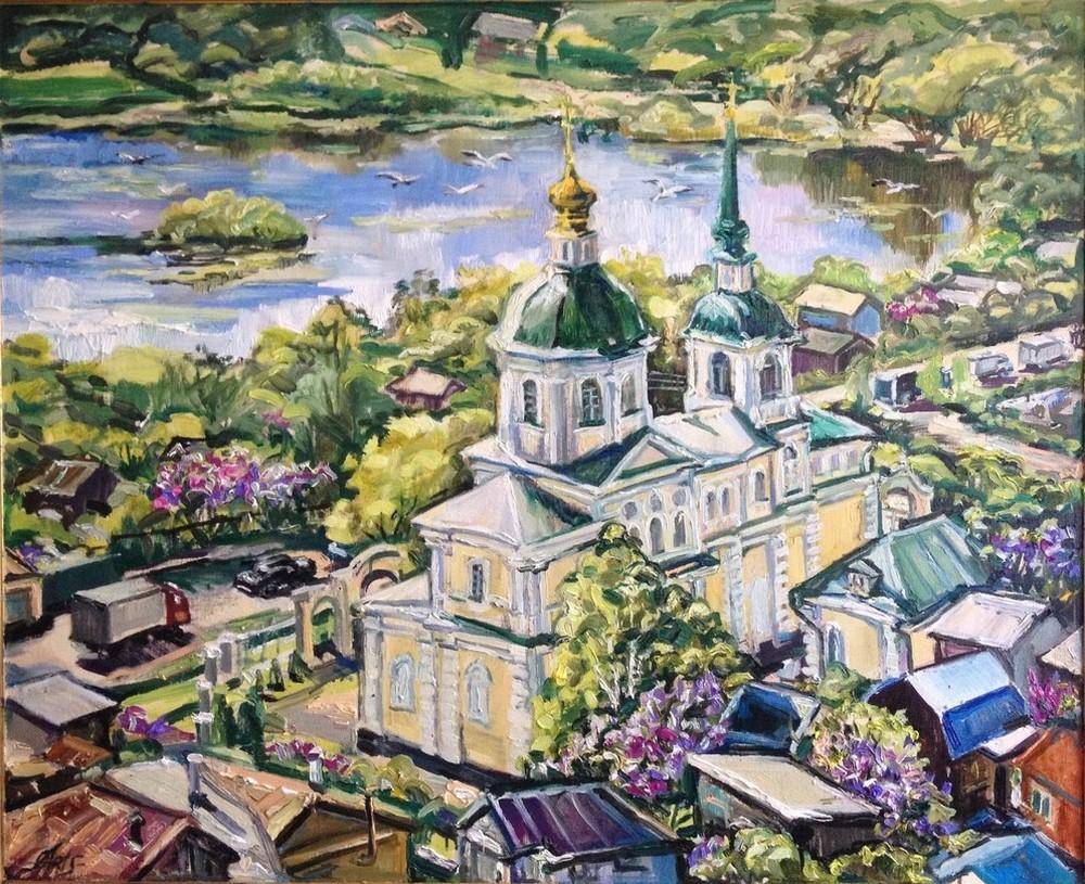 в Киово (Московская область, г. Лобня), 2015 г., холст, масло, 90х110