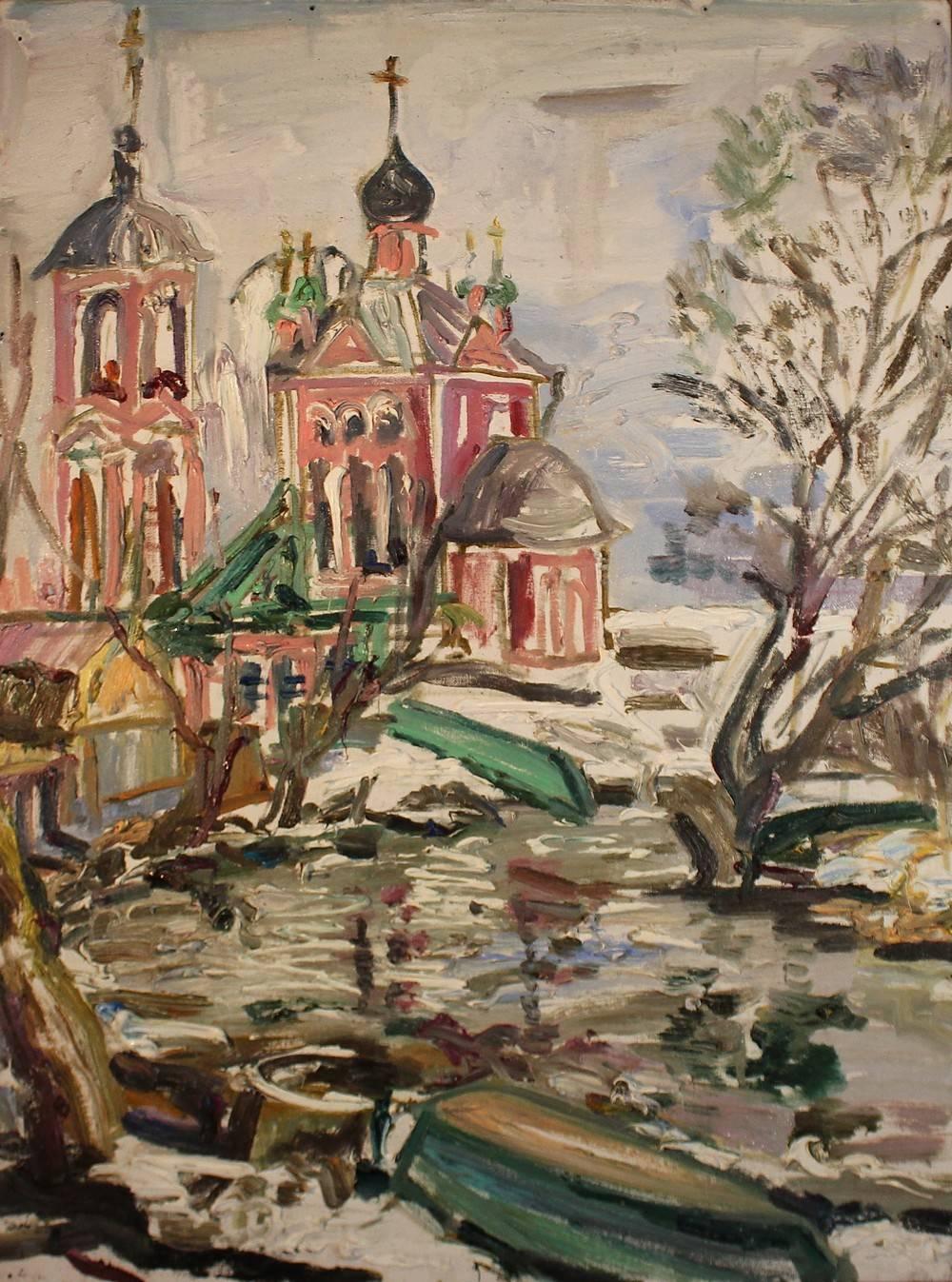 Зеленые лодки (Переславль-Залесский, церковь Сорока мучеников)