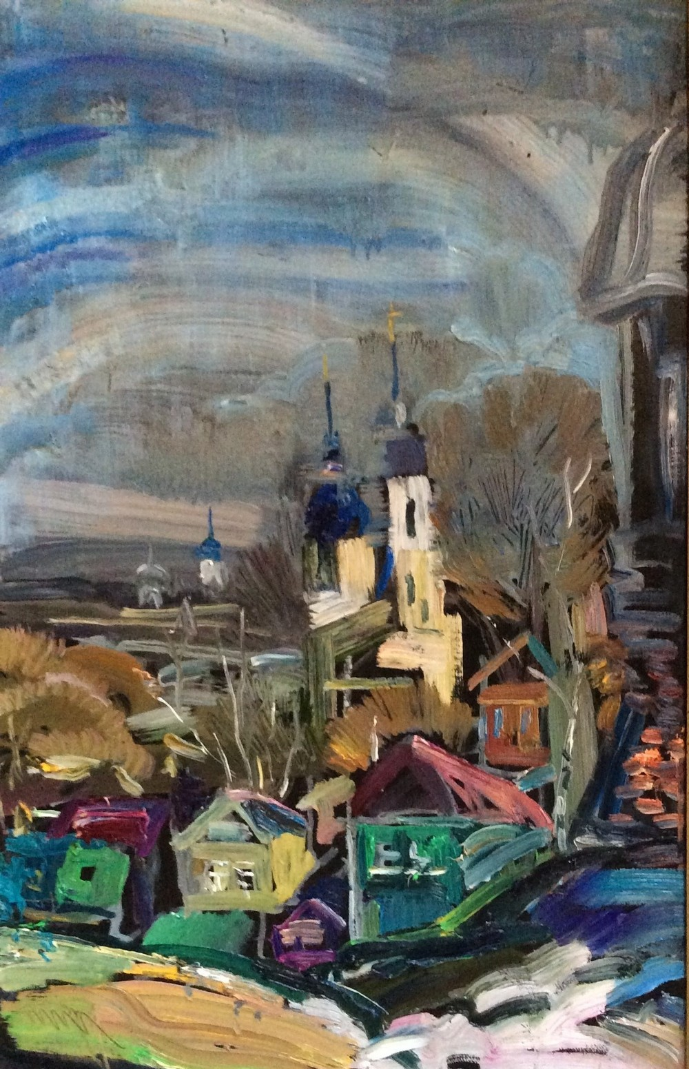 Ольга, 2016, Весна в Переславле, холст, масло, 90х50