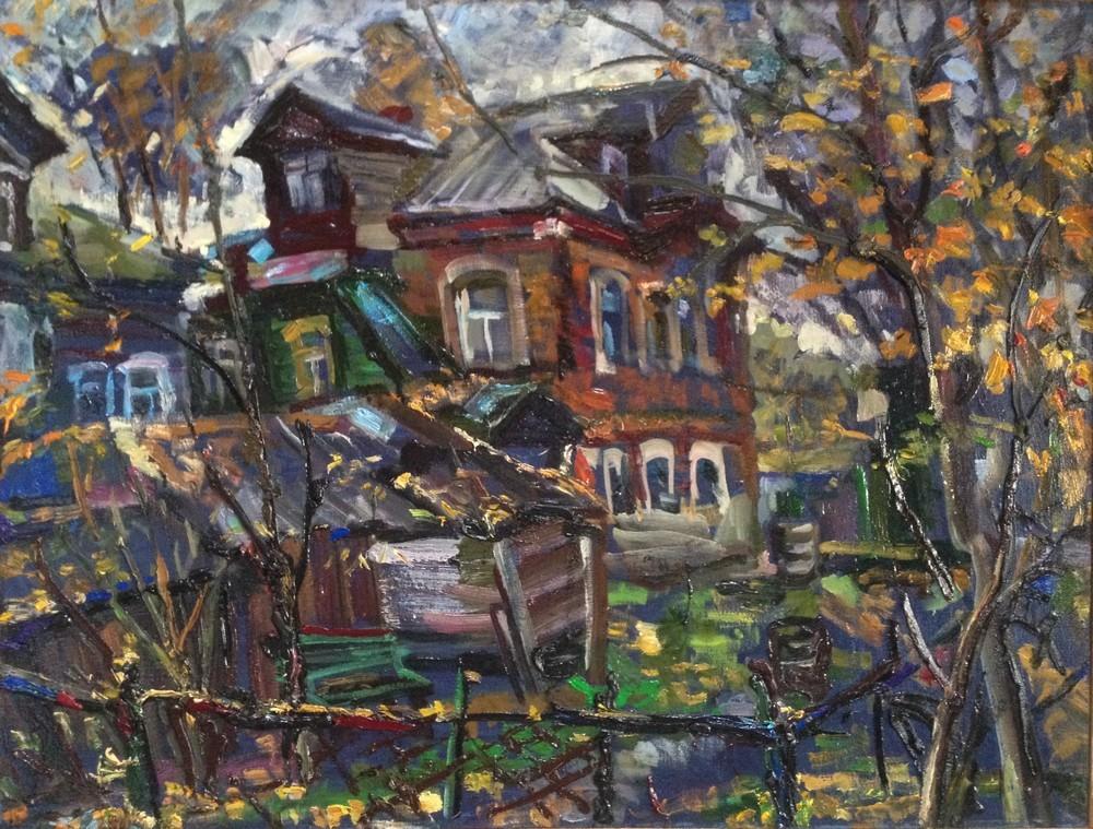 Ольга, Думы старого дома, 2014, холст, масло, 65х85