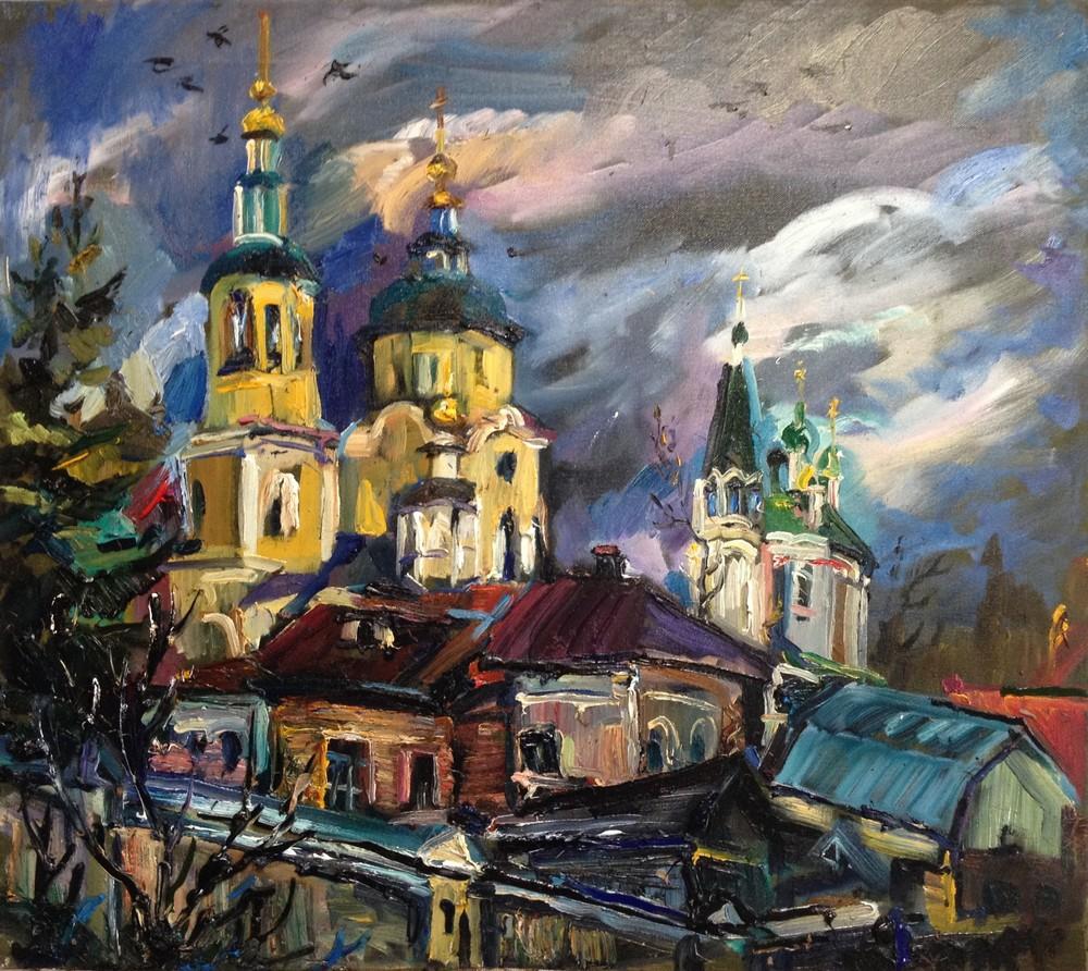 Ольга, Серпухов, 2015, холст, масло, 80х90