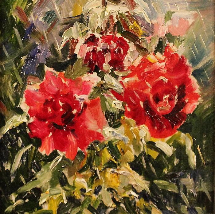 Мокрые розы